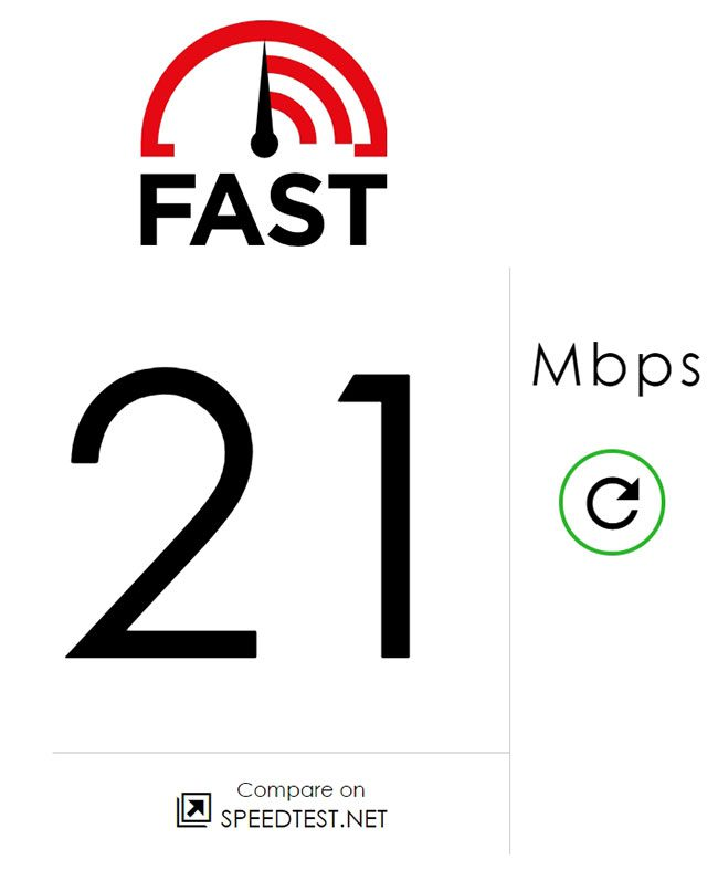 private internet access speed after signed in