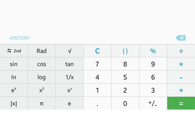 android marshmallow additional calculator buttons