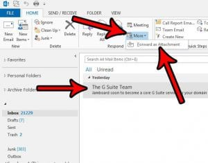 how to forward as an attachment in outlook 2013
