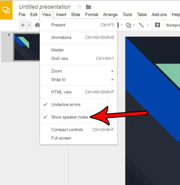 How to Hide the Speaker Notes in Google Slides - Solve Your Tech