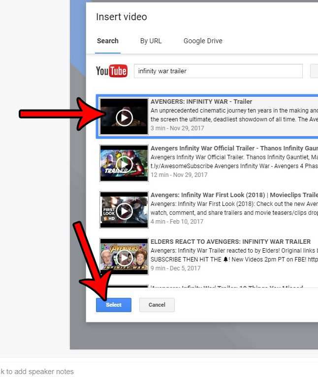 how to insert video in google slides