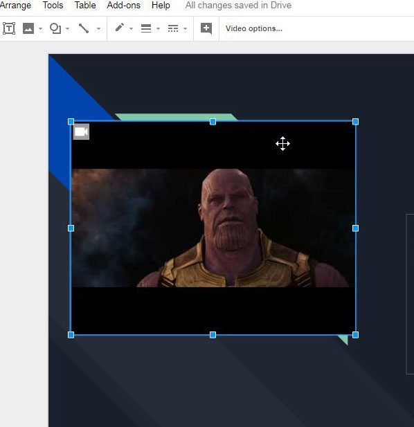 use youtube in google slides