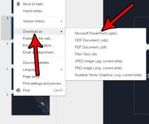 how to save a google slides file for powerpoint