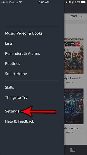 amazon alexa settings