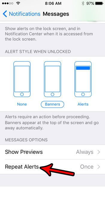 how to stop iphone messages from repeating