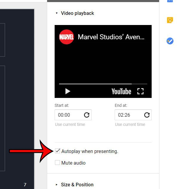 google slides autoplay when presenting