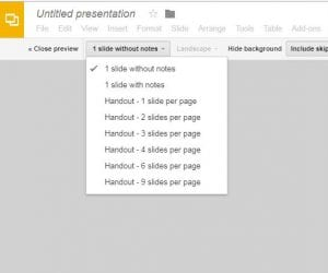 how to print multiple slides per page in google slides