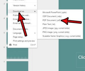 how to convert a google slides presentation to a pdf
