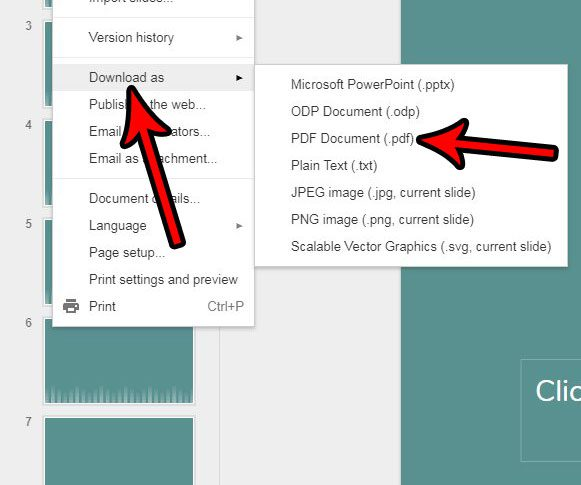 how to convert a google slides file to a pdf solve your tech