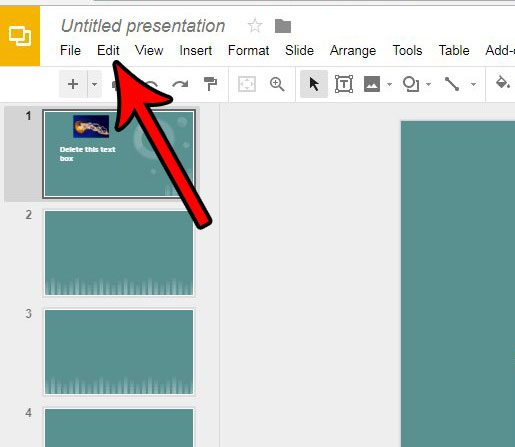 remove a text box from google slides