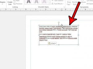 how to delete a text box in publisher 2013
