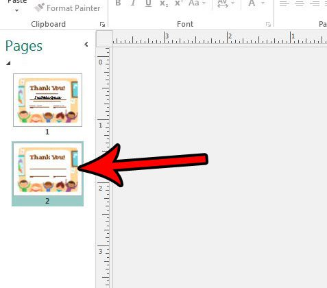 how to create a copy of a page in publisher 2013