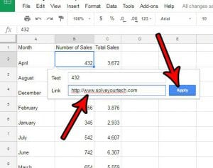 how to add a link to a cell in google sheets