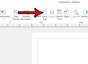 how to insert a word document into a publisher 2013 file