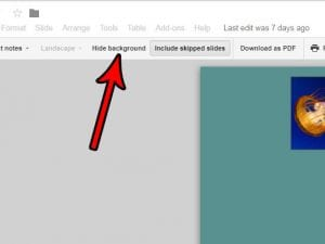 How to Hide the Background When Printing in Google Slides