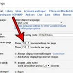 how to show more conversations per page in gmail