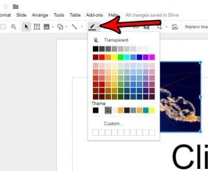 how to add a border to a picture in google slides