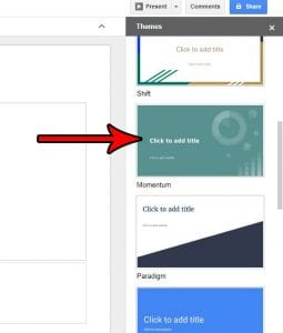 how to set a theme in google slides