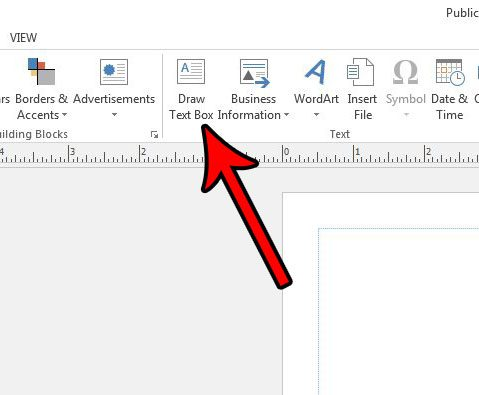 how to insert a text box in publisher 2013