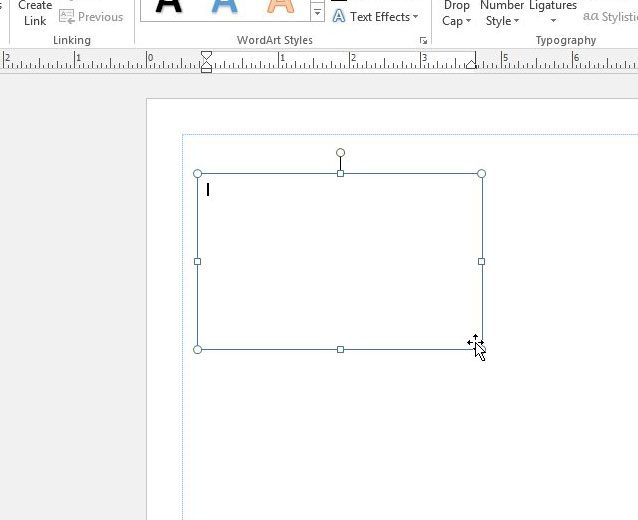 draw text box in publisher 2013