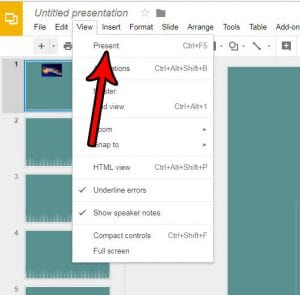 how to present a slideshow in google slides
