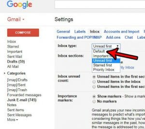 how to switch to tabs in gmail