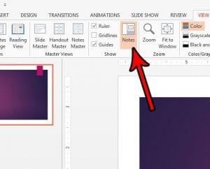 How to Show or Hide the Speaker Notes in Powerpoint 2013