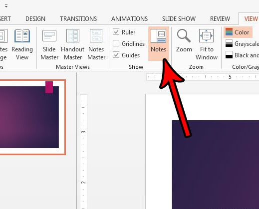 how to show or hide the speaker notes in powerpoint 2013 solve