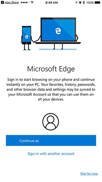 how to get microsoft edge on the iphone