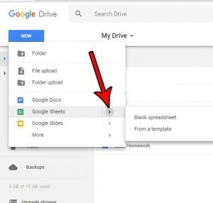 How to Create a New Google Sheets Spreadsheet in Google Drive
