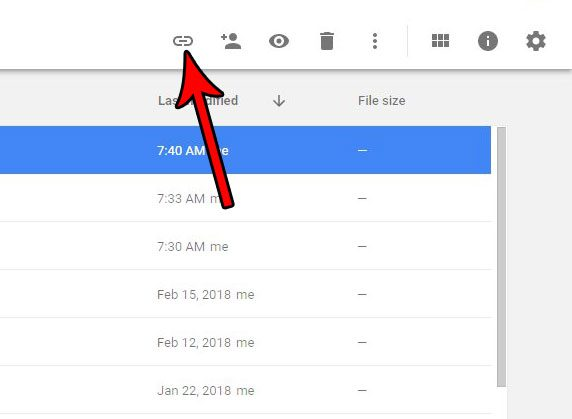 get shareable link to google sheets file