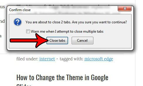 stop the warning when closing multiple tabs in firefox