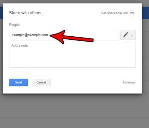 how to send a google docs invitation by email