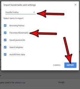 how to import bookmarks into google chrome