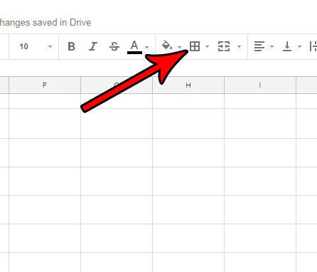 open border menu in google sheets