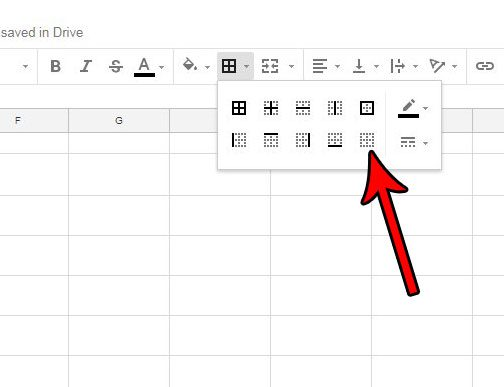 how to remove borders in google sheets