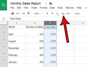 how to increase the number of decimal places in google sheets