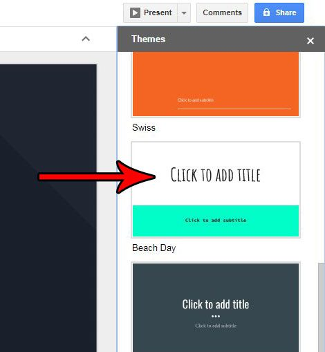 how to change a theme in google slides