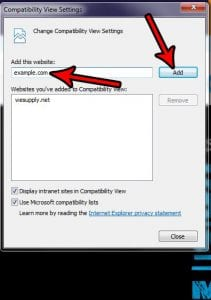 How to Add a Website to Compatibility View in Internet Explorer 11