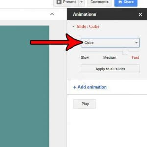 How to Set a Transition for a Slide in Google Slides