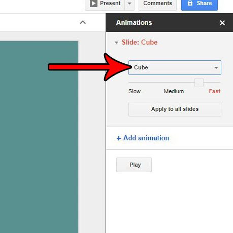 how to add a transition in google slides