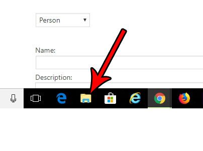 click the folder icon in the taskbar