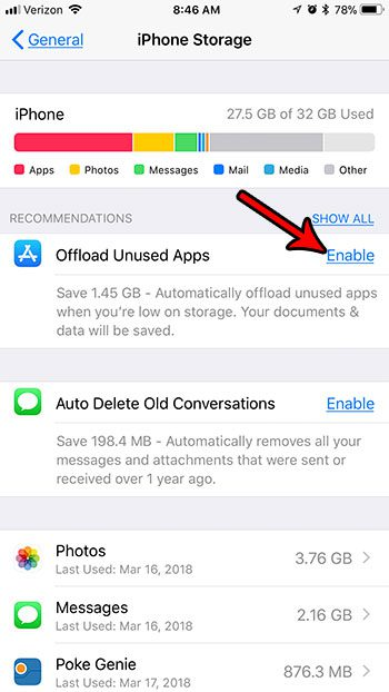 how to automatically delete unused apps from iphone