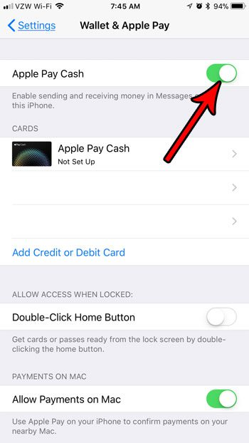 how to turn off the apple pay option in messages