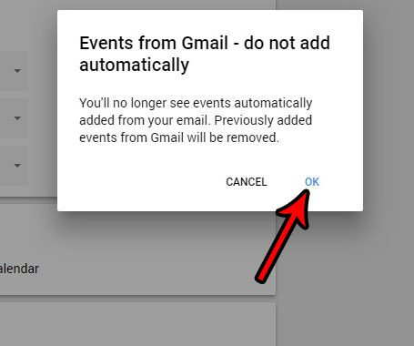 how to stop adding gmail events to google calendar