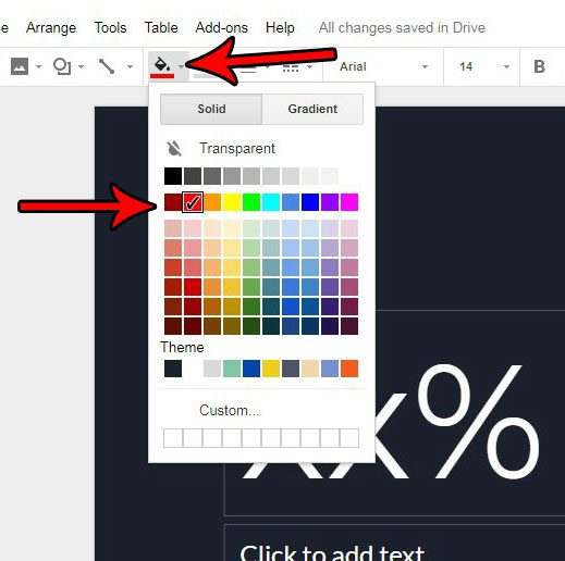 how to change color of circle in google slides