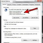 how to start internet explorer with multiple home pages