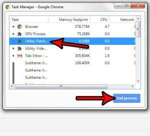 how to end a process in google chrome task manager
