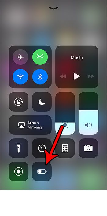 how to quickly enable low power mode on an iphone 7