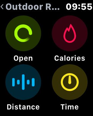 how set workout goal apple watch